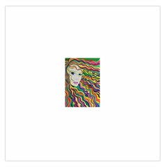 Inspirational Girl Large Satin Scarf (square) by sjart