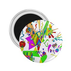 Splatter Life 2 25  Button Magnet by sjart