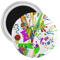 Splatter Life 3  Button Magnet by sjart