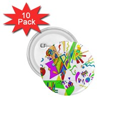 Splatter Life 1 75  Button (10 Pack) by sjart