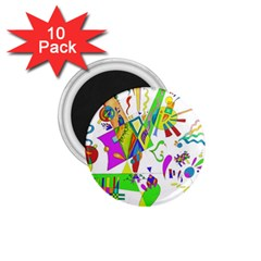 Splatter Life 1 75  Button Magnet (10 Pack) by sjart