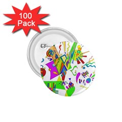 Splatter Life 1 75  Button (100 Pack) by sjart