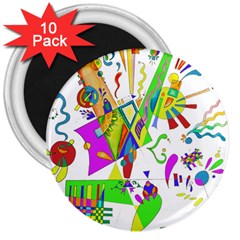 Splatter Life 3  Button Magnet (10 Pack) by sjart