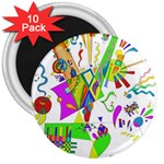 Splatter Life 3  Button Magnet (10 pack) Front