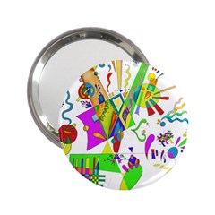 Splatter Life Handbag Mirror (2 25 ) by sjart
