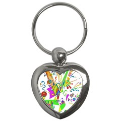 Splatter Life Key Chain (heart) by sjart