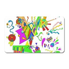 Splatter Life Magnet (rectangular) by sjart