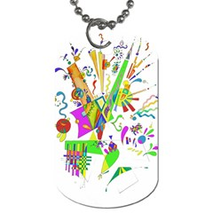 Splatter Life Dog Tag (one Sided) by sjart