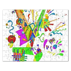 Splatter Life Jigsaw Puzzle (rectangle) by sjart