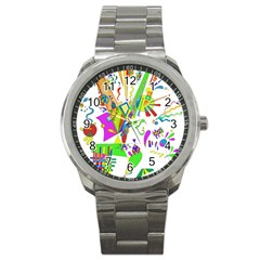 Splatter Life Sport Metal Watch by sjart