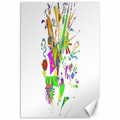 Splatter Life Canvas 12  X 18  (unframed) by sjart