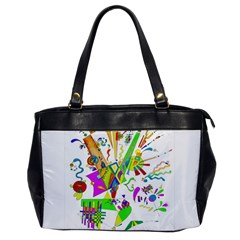 Splatter Life Oversize Office Handbag (one Side) by sjart