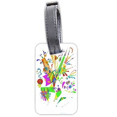 Splatter Life Luggage Tag (one Side) by sjart