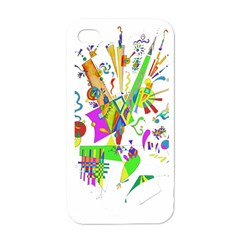 Splatter Life Apple Iphone 4 Case (white) by sjart