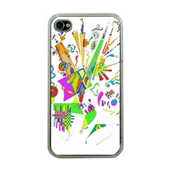 Splatter Life Apple Iphone 4 Case (clear) by sjart