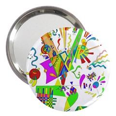 Splatter Life 3  Handbag Mirror by sjart
