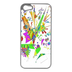 Splatter Life Apple Iphone 5 Case (silver) by sjart