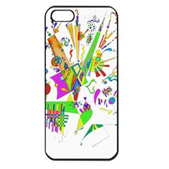 Splatter Life Apple Iphone 5 Seamless Case (black) by sjart
