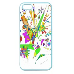 Splatter Life Apple Seamless Iphone 5 Case (color) by sjart