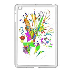 Splatter Life Apple Ipad Mini Case (white) by sjart