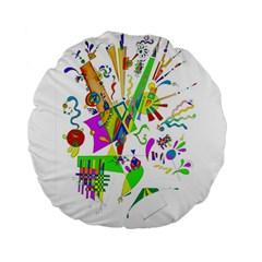 Splatter Life Standard 15  Premium Round Cushion  by sjart