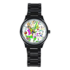 Splatter Life Sport Metal Watch (black) by sjart