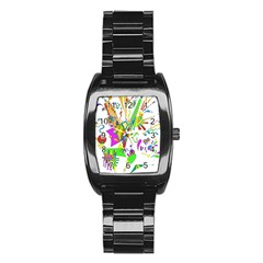 Splatter Life Stainless Steel Barrel Watch by sjart