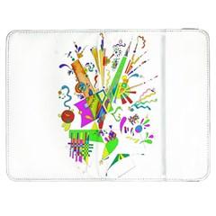 Splatter Life Samsung Galaxy Tab 7  P1000 Flip Case by sjart