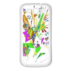 Splatter Life Samsung Galaxy S3 Back Case (white) by sjart