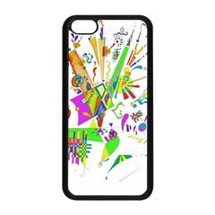 Splatter Life Apple Iphone 5c Seamless Case (black) by sjart