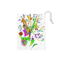 Splatter Life Drawstring Pouch (small) by sjart