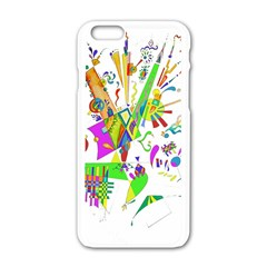 Splatter Life Apple Iphone 6 White Enamel Case by sjart