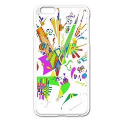Splatter Life Apple Iphone 6 Plus Enamel White Case by sjart