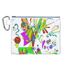 Splatter Life Canvas Cosmetic Bag (large) by sjart