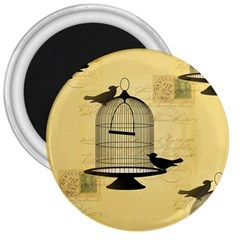 Victorian Birdcage 3  Button Magnet by boho
