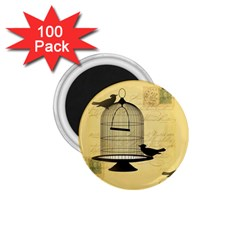 Victorian Birdcage 1 75  Button Magnet (100 Pack) by boho