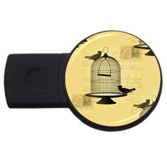Victorian Birdcage 2gb Usb Flash Drive (round) by boho