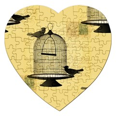 Victorian Birdcage Jigsaw Puzzle (heart) by boho