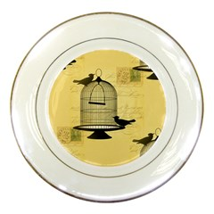 Victorian Birdcage Porcelain Display Plate by boho