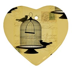 Victorian Birdcage Heart Ornament (two Sides) by boho