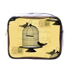 Victorian Birdcage Mini Travel Toiletry Bag (one Side) by boho