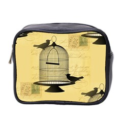 Victorian Birdcage Mini Travel Toiletry Bag (two Sides) by boho