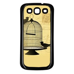 Victorian Birdcage Samsung Galaxy S3 Back Case (black) by boho