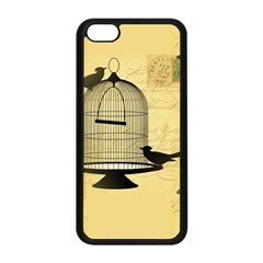 Victorian Birdcage Apple Iphone 5c Seamless Case (black) by boho