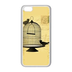 Victorian Birdcage Apple Iphone 5c Seamless Case (white) by boho