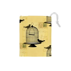 Victorian Birdcage Drawstring Pouch (small) by boho