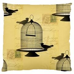 Victorian Birdcage Large Flano Cushion Case (one Side) by boho