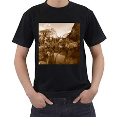 Native American Men s Two Sided T Shirt (black) by boho