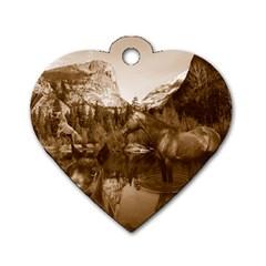 Native American Dog Tag Heart (one Sided)  by boho