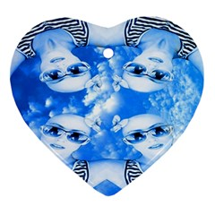 Skydivers Heart Ornament by icarusismartdesigns